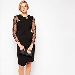 ASOS Maternity Drape Pencil Dress with Lace Panels